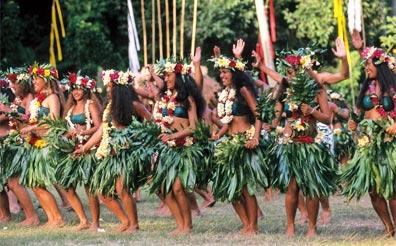 »Südsee Urlaub: Traditioneller Tanz, Französisch Polynesien«