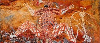 »Australien Rundreise - Uluru Felsenmalerei«