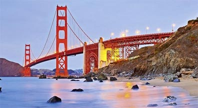 » USA Rundreise Westen: Golden Gate Bridge, San Francisco «
