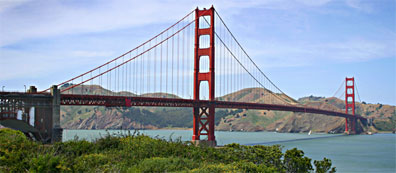 »Rundreise quer durch die USA: Golden Gate Bridge«