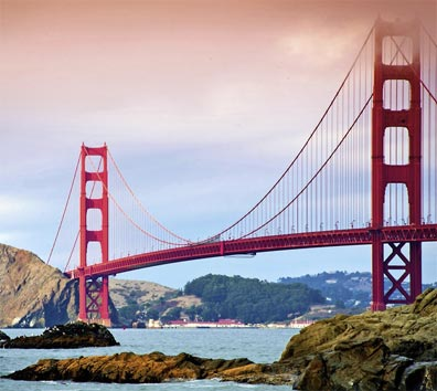 » San Francisco, Golden Gate Bridge - Busreise USA «
