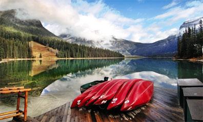 »Glanzlichter im westlichen Kanada: Emerald Lake«