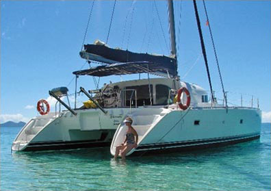 »Katamaran Segeltörn Whitsunday Blue Australien«
