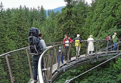 »Naturereignis Rocky Mountains Cliffwalk Capilano Hängebrücke«