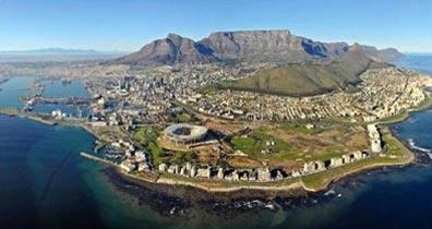 »Blick auf Kapstadt und sein Wahrzeichen: der Tafelberg«