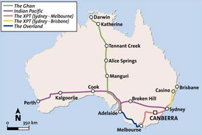 »Der Reiseverlauf: Adelaide - Melbourne oder umgekehrt«
