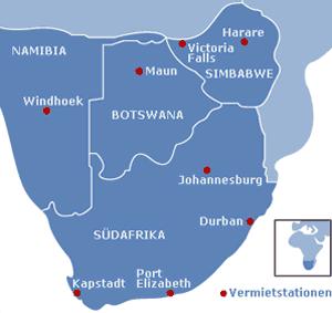 »Mietstationen im südlichen Afrika«