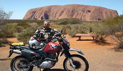 »Mit dem Motorrad durch das Outback in Australien«