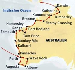 »Reise durch West-Australien«